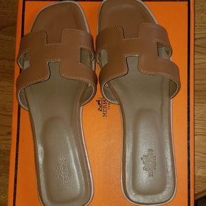 Hermès Oran Sandals Size 39 US 9